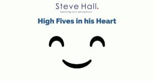 Hi fives in his heart